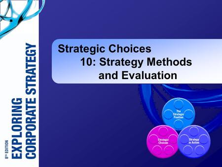 Strategic Choices 10: Strategy Methods and Evaluation.