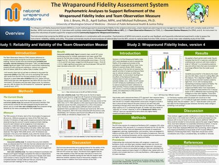The Wraparound Fidelity Assessment System Psychometric Analyses to Support Refinement of the Wraparound Fidelity Index and Team Observation Measure Eric.