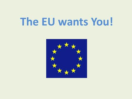 The EU wants You!. What ambassadors do? Promote EU careers: -they are open for graduates -encourage more Brits Answer questions.