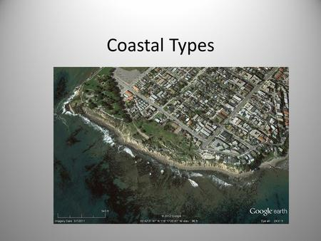 Coastal Types. Introduction Complex Environment – Shaped by tectonics, erosion & deposition, & rocks Several different classification schemes for.