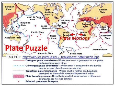 Plate Puzzle Plate Motions This PPT: