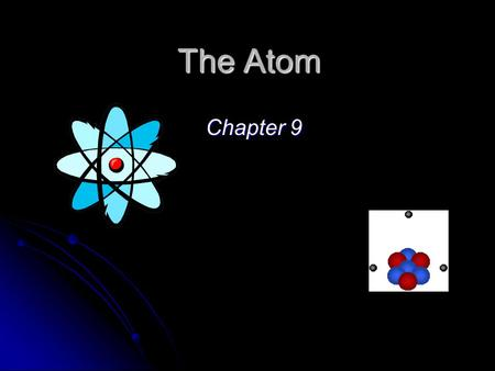The Atom Chapter 9. Homework Assignment Chap 9 Review Questions (p 187): 1 – 22 Multiple Choice Questions: 1 - 3.