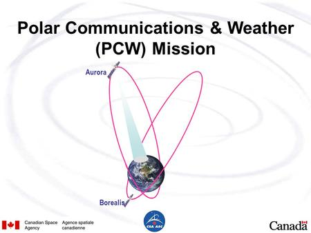 Polar Communications & Weather (PCW) Mission Aurora Borealis.