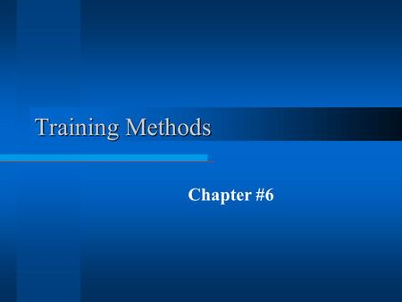 Training Methods Chapter #6 Balloon Planet