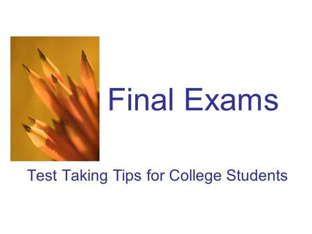 Test Taking Tips for College Students