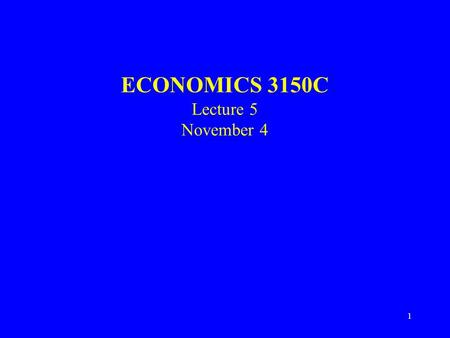 1 ECONOMICS 3150C Lecture 5 November 4. 2 Internal and International Trade Firms – competitive advantage Mobility of factors of production Trade costs.