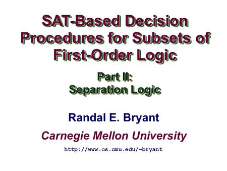 SAT-Based Decision Procedures for Subsets of First-Order Logic