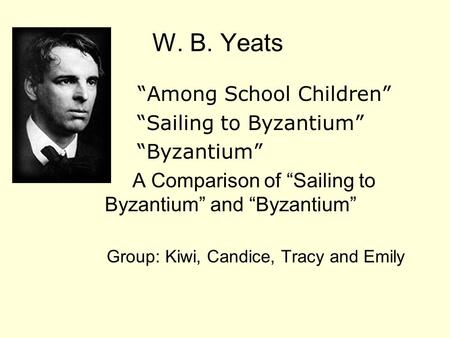 sailing to byzantium critical essays