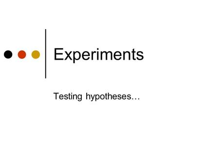 Experiments Testing hypotheses…. Agenda Homework assignment Review evaluation planning Observation continued Empirical studies In-class practice.