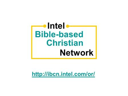 Bible-based Christian Network Intel