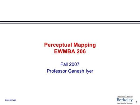Perceptual Mapping EWMBA 206