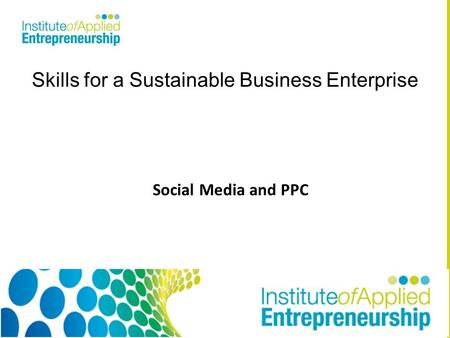 Skills for a Sustainable Business Enterprise Social Media and PPC.
