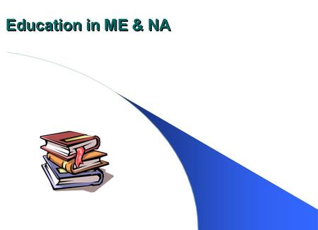 Education in ME & NA. Kinds of Education On ‑ the ‑ job training Technical and vocational training Formal education at the elementary, secondary, and.