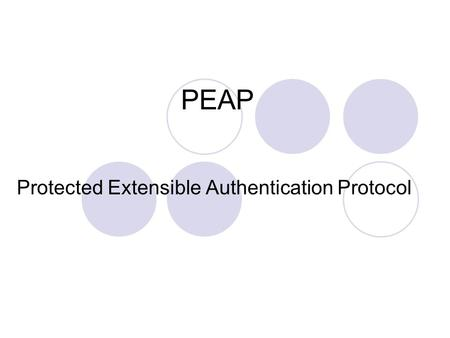 Protected Extensible Authentication Protocol
