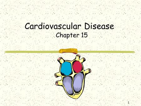 1 Cardiovascular Disease Chapter 15. 2 Introduction Cardiovascular disease (CVD) is the leading cause of death in the U.S. One American dies from CVD.