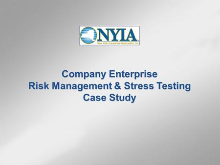 Company Enterprise Risk Management & Stress Testing Case Study.