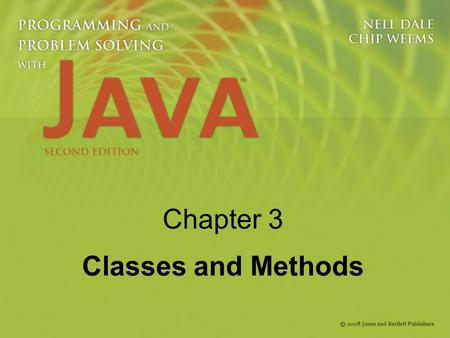 Chapter 3 Classes and Methods. 2 Knowledge Goals Appreciate the difference between a class in the abstract sense and a class as a Java construct Know.