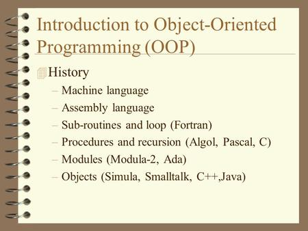 Introduction to Object-Oriented Programming (OOP)