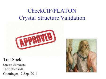 CheckCIF/PLATON Crystal Structure Validation