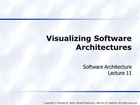 Visualizing Software Architectures