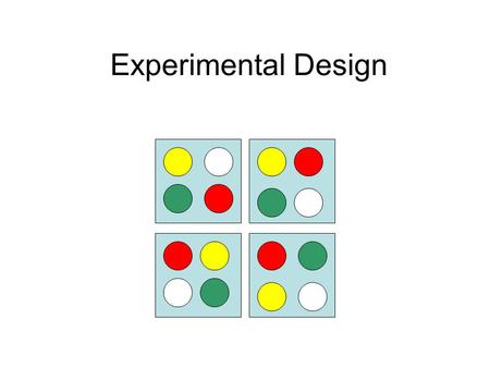 Experimental Design. Experimental design is the part of statistics that happens before you carry out an experiment Proper planning can save many headaches.