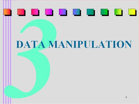 Data Manipulation Computer System consists of the following parts: