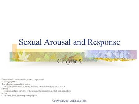 Sexual Arousal and Response
