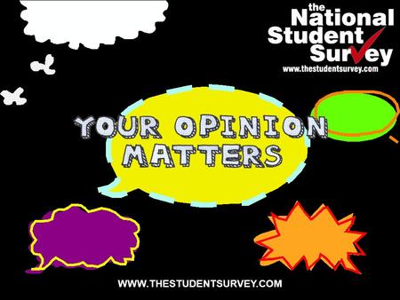 WWW.THESTUDENTSURVEY.COM. What is the National Student Survey?  Annual survey of final year* undergraduates across the UK  Commissioned by the Higher.