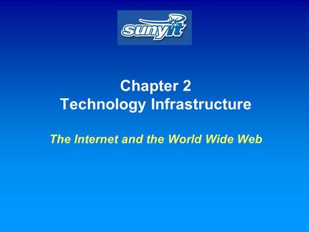 Chapter 2 Technology Infrastructure The Internet and the World Wide Web.