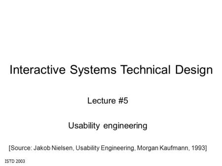Interactive Systems Technical Design