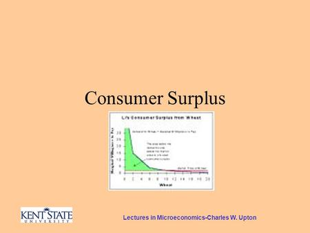 Lectures in Microeconomics-Charles W. Upton Consumer Surplus.