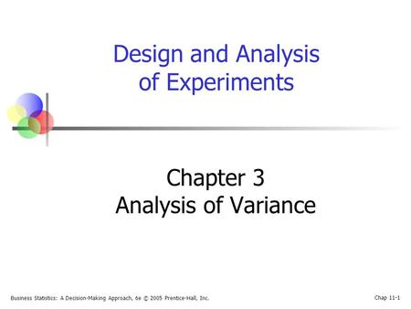 Chapter 3 Analysis of Variance