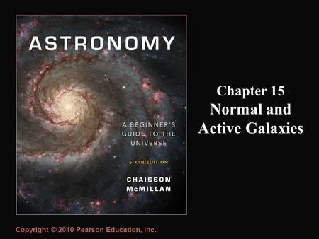 Copyright © 2010 Pearson Education, Inc. Chapter 15 Normal and Active Galaxies.