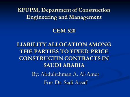 Cem 520 construction contracting and administration 03 for Fixed price construction contract