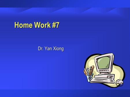 Home Work #7 Dr. Yan Xiong. The Central Copy Center (CCC) ending cash balance for October was $9,110.45. The owner deposited $773.14 on October 31 that.
