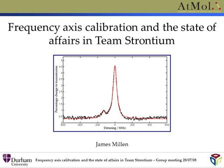 Frequency axis calibration and the state of affairs in Team Strontium