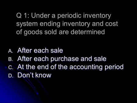 advantages and disadvantages of inventory systems