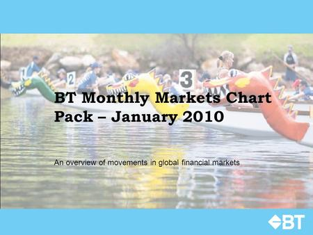BT Monthly Markets Chart Pack – January 2010 An overview of movements in global financial markets.