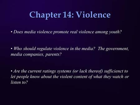 essay on youth violence and the media Extensive research evidence indicates that media violence can enter the sopt essay contest for weib rh media violence and youth violence j media.