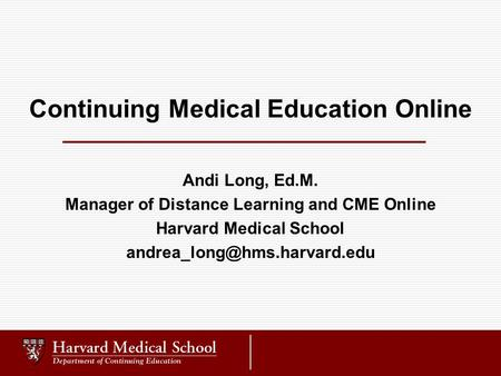 Continuing Medical Education Online