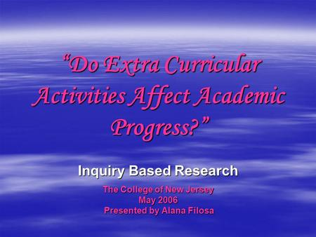 """Do Extra Curricular Activities Affect Academic Progress?"""