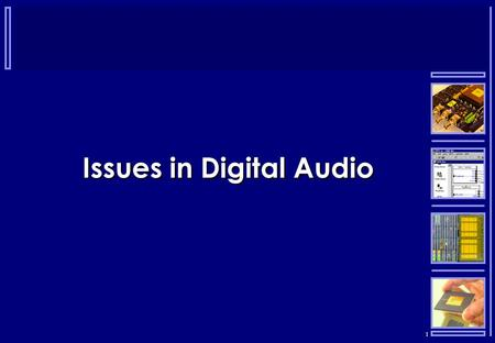 1 Issues in Digital Audio. 2 Intellectual Property  Non-tangible property that is the result of creativity:  Patents – products, processes etc.  Copyright.