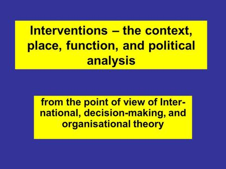 decision making incremental theory Non-incremental decision making the third section research on policy  formulation is characterized by a multiplicity of theoretical perspectives.