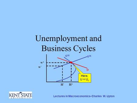Lectures in Macroeconomics- Charles W. Upton Unemployment and Business Cycles.
