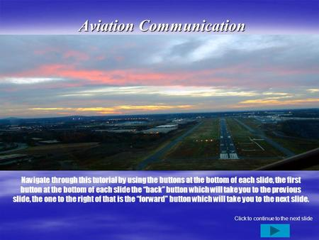 Aviation Communication