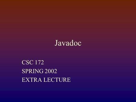 how to write javadoc comments