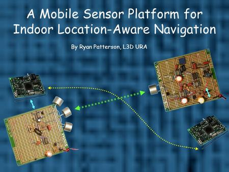 A Mobile Sensor Platform for Indoor Location-Aware Navigation By Ryan Patterson, L3D URA.