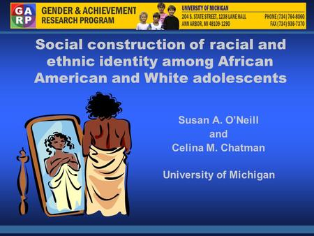 ethnic identity and african americans essay Race and culture essay topics: african american family african american black essays] a look at self-verification in african american literature - identity.