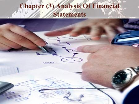 Chapter (3) Analysis Of Financial Statements
