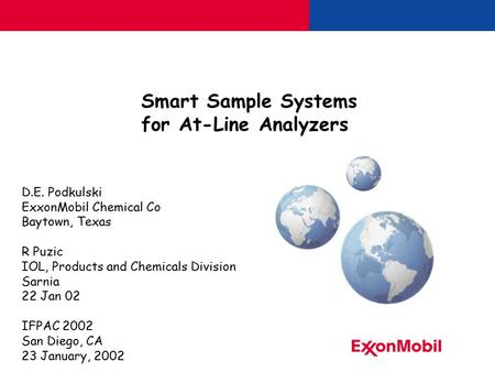 Smart Sample Systems for At-Line Analyzers